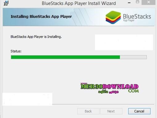 ۴- تصویر زیر نیز زمانی را نشان میدهد که نرم افزار روی سیستم شما در حال نصب می باشد بستگی به نوع سیستم و ویندوز زمان نصب فرق می کنه
