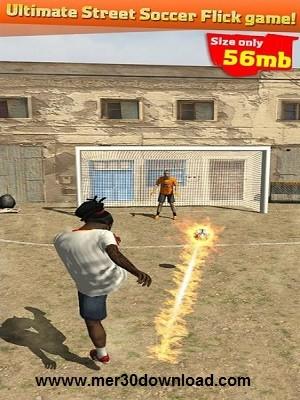 تصویری از محیط بازی Street Soccer Flick Pro 1.06