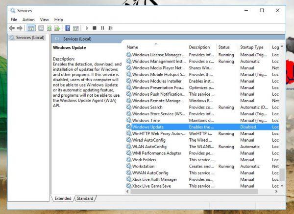 در صفحه باز شده گزینه Windows Update را پیدا کرده و بر روی آن دبل کلیک بزنید