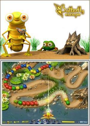 دانلود بازی Butterfly Escape - فرار پروانه ای (پرتاب توپ) بازی کم حجم