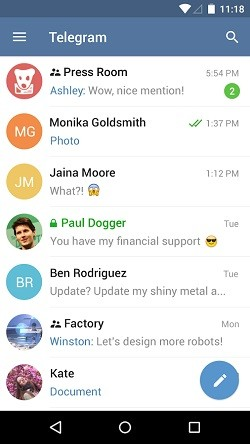 نرم افزار تلگرام اندروید