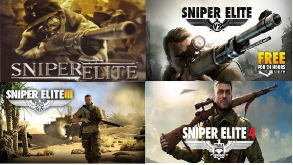 دانلود مجموعه بازیهای اسنایپر ایلیت 4,Sniper Elite 1,2,3 + نسخه کامل و معتبر
