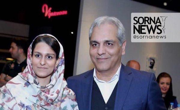 مهران مدیری و دخترش شهرزاد در اکران فیلم ساعت 5 عصر