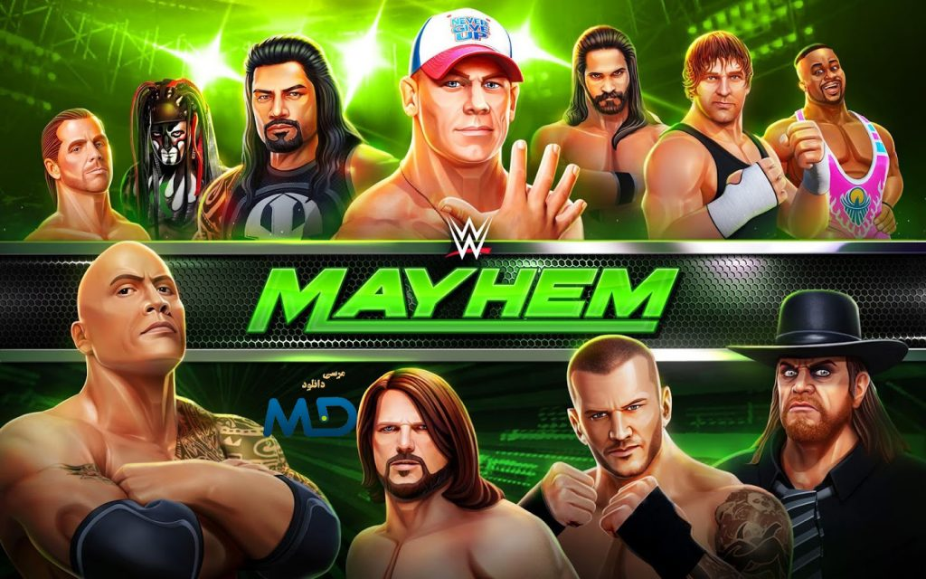 کشتی کج wwe mayhem