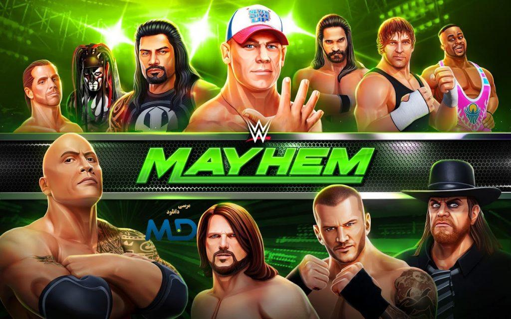 کشتی کج wwe mayhem