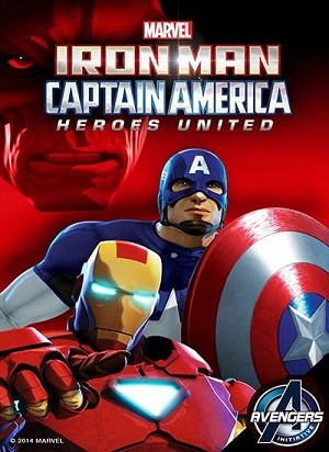 دانلود انیمیشن مرد آهنی و کاپیتان آمریکایی Iron Man and Captain America: Heroes United 2014 دوبله فارسی