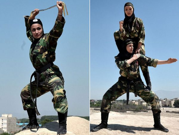 بازتاب خارجی بانوان نینجای ایران + تصاویر