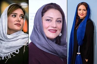 پریناز ایزدیار،شبنم مقدمی و گلاره عباسی در سریال جیران