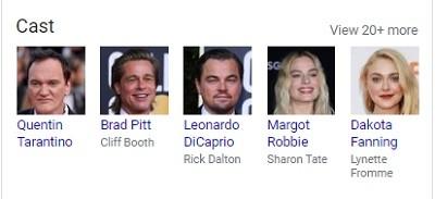 بازیگران فیلم 2019 Once Upon a Time in Hollywood